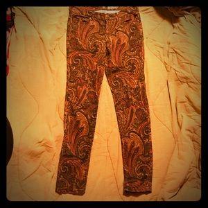 New York & Company Paisley Skinny Jeans